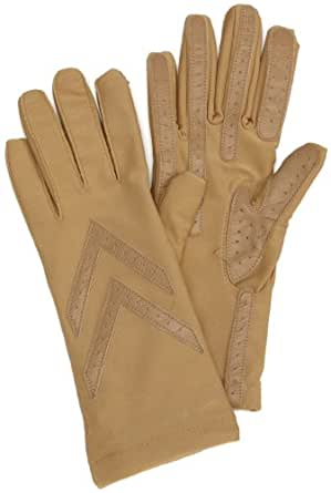 Isotoner Women's Spandex Knit Lined Glove, Camel, One Size