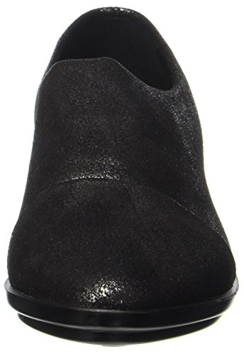 NR RAPISARDI Damen E700 Mokassin Schwarz (Black Pewter Star Dust)