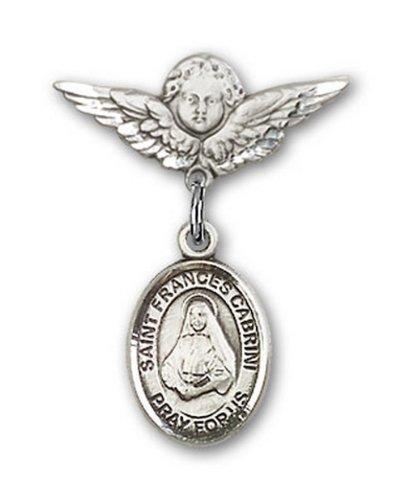 Icecarats Créatrice De Bijoux En Argent Sterling St. Francesca Cabrini Charme Ange Pin Badge 7/8 X 3/4