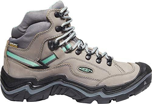 (Keen - Women's Durand II Mid WP, Waterproof Hiking Boots, Grey Flannel/Steel Grey, 9 M US)