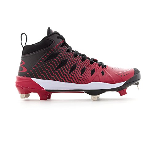Boombah Men's Squadron Metal Mid Cleats - 5 Color Options - Multiple Sizes Black/Red outlet manchester great sale great deals for sale clearance marketable perfect sale online Jef15mo