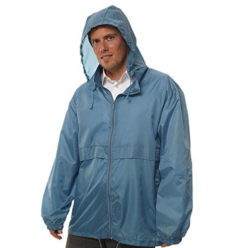 Totes TMP500 Men's Packable Rain Jacket Blue Large