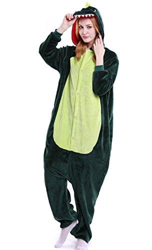 AooToo Womens Costumes Onesie Halloween Unisex Role Play Flannel Animal Pajamas(KLBL, -