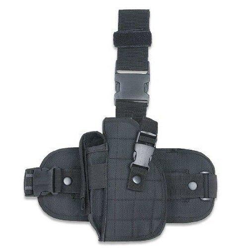 Ultimate Arms Gear Tactical Lefty Left Handed Black Drop Leg Hi Point Pistol/Gun Holster + Magazine Pouch