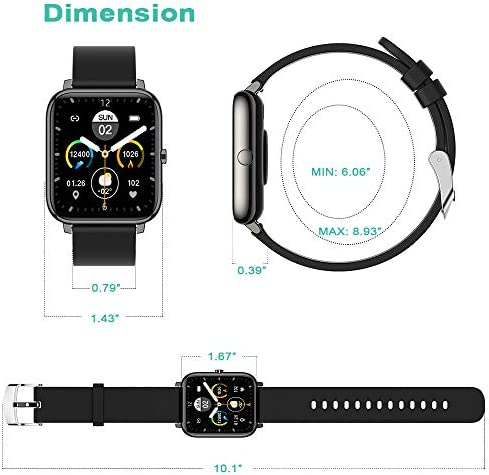 Smart Watch, Fitness Tracker 1.4 Inch Touch Screen Watch Heart Rate Monitor Blood Pressure and Sleep Monitor IP67 Waterproof Smartwatchs Compatible with iOS Andorid Digital Smartwatch for Women Men