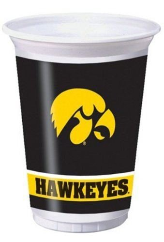 University of Iowa 20oz Plastic Cups 96ct