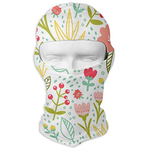 YIXKC Balaclava Summer Flowers and Leaves Art Amazing Motorcycle Cycling Bike Bandana Skiing for Adults