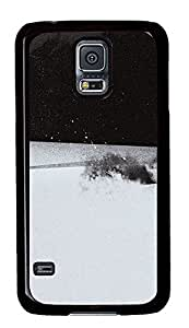Samsung Galaxy S5 Black White Splash PC Custom Samsung Galaxy S5 Case Cover Black