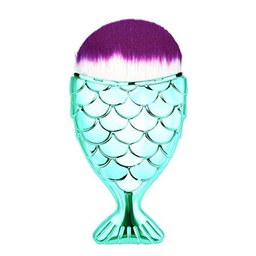 Fish Scale Makeup Brush Fishtail Bottom Brush Powder Blush Makeup Cosmetic Brush -