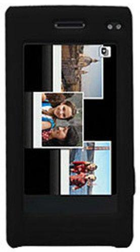 Amzer Silicone Skin Jelly Case for Samsung Memoir T929 - Jet Black ()