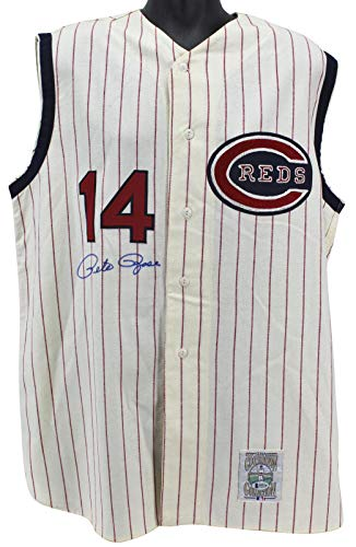 (Pete Rose Signed Jersey - Mitchell & Ness BAS #H92236 - Beckett Authentication - Autographed MLB Jerseys)