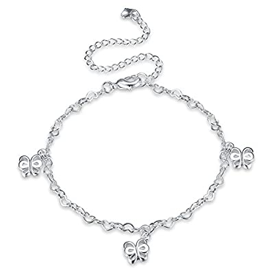 Nice Women Butterfly Hollow Out Ankle Bracelet Silver Plated Jewelry Barefoot Sandal Beach Foot Chain hot sale