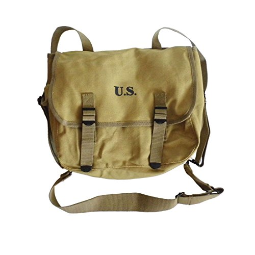 ANQIAO WWII WW2 Us Army M36 Haversack Musette Field Bag Military Back Pack ()