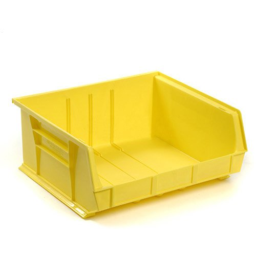Quantum QUS250YL Yellow Ultra Stack and Hang Bin, 14-3/4'' x 16-1/2'' x 7'' Size (Pack of 6)
