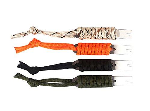 4 pcs Mini Portable Metal Umbrella Rope Crowbar Pry Bar Keychain EDC Survival Tool Pocket Scraper Outdoor