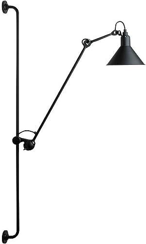 Vintage Industrial Swing Arm Wall Lamp Adjustable Black Rocker Wall Lamp Wall Mounted Reading Light Fixture