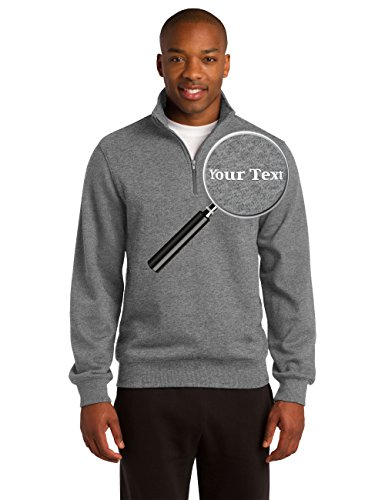 - Custom Embroidered Quarter Zip Sweatshirts - Personalized Embroidery Sweaters