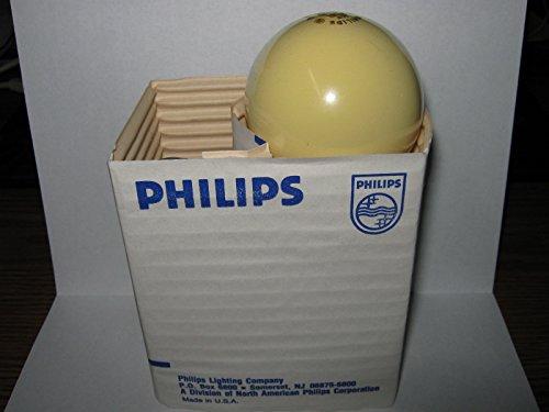 120 box, Philips 60 watt Bug Light, Yellow Incandescent Bulb, 60A/Y, 120V, by Philips