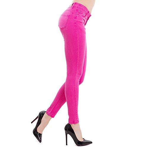 Toocool Pantaloni Skinny M5780 Jeans Donna Aderenti Up Elasticizzati Push Fuxia Nuovi Slim BEqrER