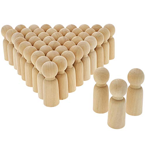 Bright Creations Unfinished Wood Peg Dad Doll Bodies (50 Count)