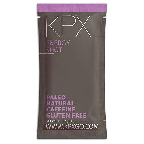 KPX Keto Caffeinated Chocolate Energy Snack, 100mg Caffeine - Macadamia Nut Fat Bomb Low Carb Granola Cereal - Gluten Free & Grain Free Coffee Bar Alternative (1.1 Ounce Shot, 10 Pack)