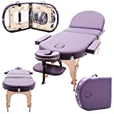"Massage Imperial Monarch Purple 3-Section Portable Massage Table 7cm/3"" High Density Foam"
