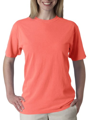 Chouinard Men's Ring-Spun Garment-Dye Bottom Hem T-Shirt, Red Orange, 3XL (Dye Garment Ringspun)