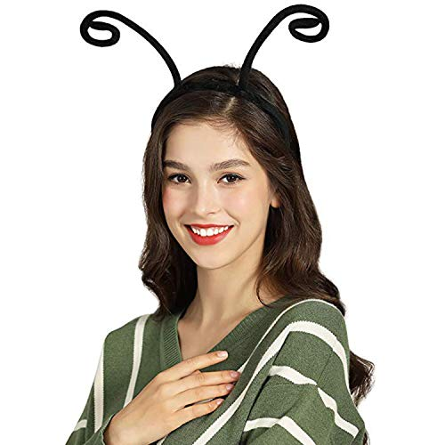 Butterfly Antenna Headband Black Hair Band for Halloween Parties Costume Accessories