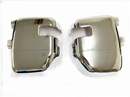 eLoveQ Chrome Full Mirror Covers for 2017-2019 Ford F-250/ F-350/ F-450 Super Duty W/Turn Signal Cutout, Tow Mirror Cover