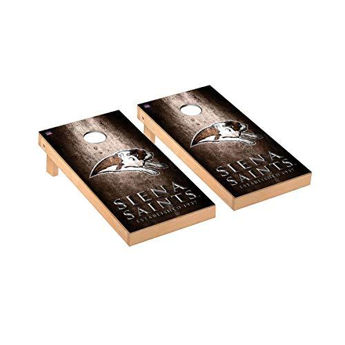 Victory Tailgate Regulation Collegiate NCAA Museum Series Cornhole Board Set - 2 Boards, 8 Bags - Siena College Saints (Siena Board Game)