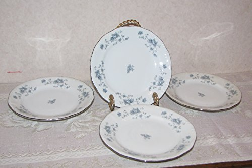 Blue Garland Bread Butter Plates - Johann Haviland Bavaria Germany Blue Garland Bread and Butter Plates - Set of 4