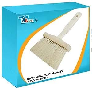 TK9K Pinceau à pâtisserie ® Brosse de maçonnerie - 150 mm-bristles. moyenne résistant, extérieur, idéal pour les peintures de maçonnerie.