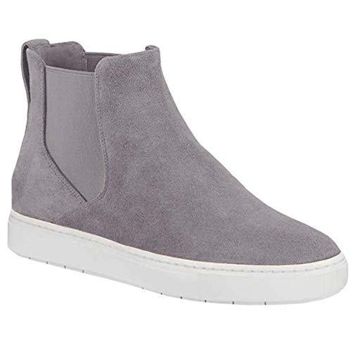LAICIGO Women's Fashion Platform Sneaker Casual Wedges Zipper Ankle Booties Shoes Flats Closed Toe