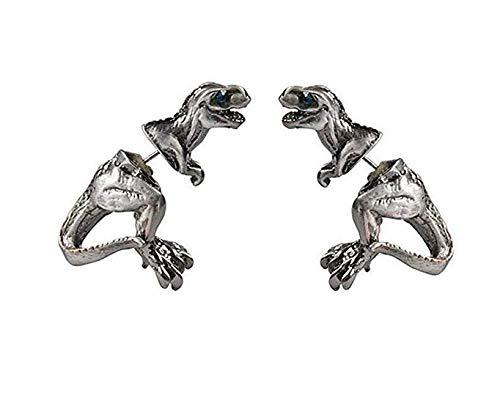Novel and Unique Girl Fashion Pendant Earrings Jewelry Small Animal Harajuku Dinosaur Puncture Stud -