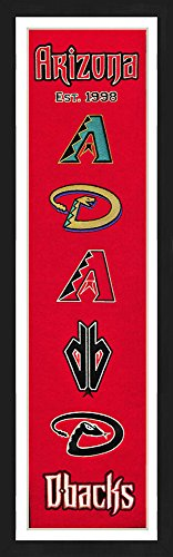 Arizona Diamond Backs Framed Heritage Banner 13x36 inches (Diamondbacks Arizona Wall Framed)