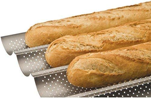 IBILI 824804 - Molde 4 Baguettes/Tejas: Amazon.es: Hogar