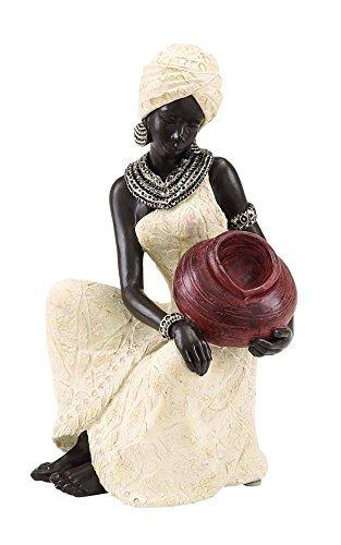 Decor Art African Home - Deco 79 Benzara 44694 Table Top Polystone African Figure Sculpture