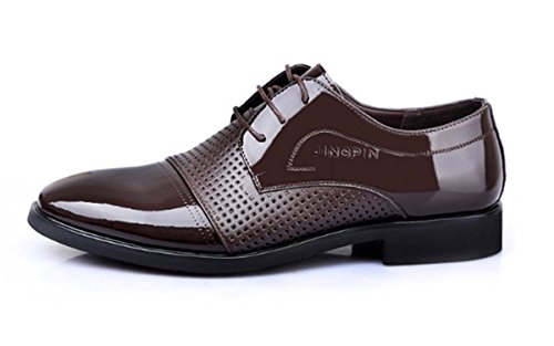 Bininbox Heren Moderne Oxford Wing Tip Fashion Sneaker Casual Dress Shoes Business Bruin