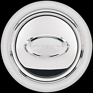 Billet Specialties 32720 Polished Smooth Horn Button with Logo