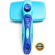 CleanHouse Pets Cat and Dog Hair Brush - No More Shedding   Easy Self Cleaning Button! All Pet Sizes, Small to Large. This Pro Grooming Pet Slicker Brush Removes All Hair, Tangles, Cleans and Desheds