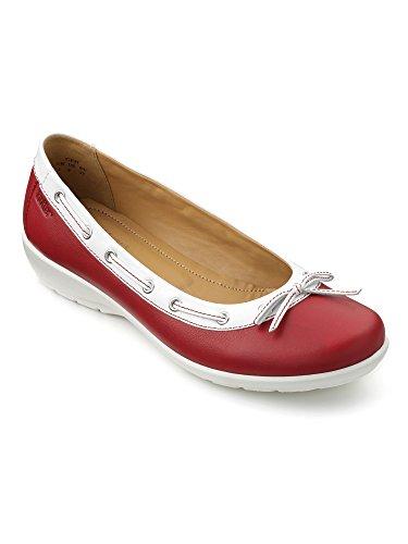 Hotter Gem, Bailarinas para Mujer Red (Tango Red-White)