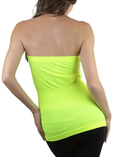cf78861671 ToBeInStyle Women s Seamless Bandeau Tube Top Ribbed Without Pad - Black - One  Size at Amazon Women s Clothing store  Blouses