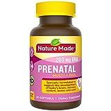 Nature Made Prenatal Vitamin + DHA Softgel with Folic Acid, Iodine and...