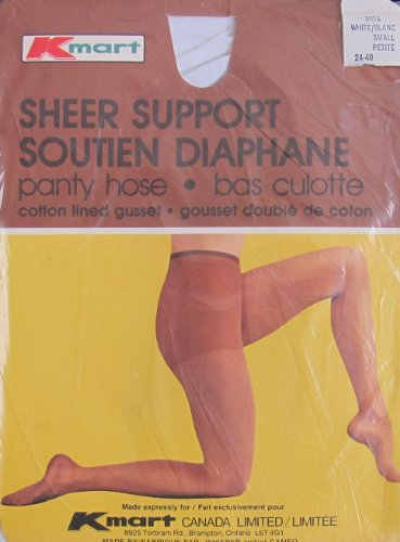 kmart-whisper-sheer-support-panty-hose-size-small-color-white-from-canada