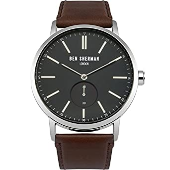 Ben Sherman Herren-Armbanduhr Analog Quarz Leder WB032UBRA