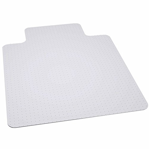 x 53'' Big & Tall 400 lb. Capacity Carpet Chair Mat with Lip (Chair Mat 45x53 25x12 Lip)