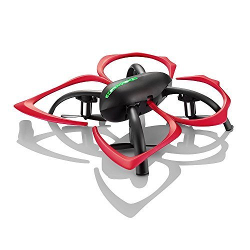 Hover-Way 2.4 GHz Drone with Auto Hover, 6 Axis Gyro & Gaming Style Remote Control - Black / Red Flapperbot by Hover-Way