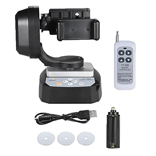 MonkeyJack Remote Control Automatic Motorized Rotating Stabilizer Head Mount Pan Tilt for Gopro
