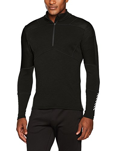 Helly Hansen Lifa Merino Max Half-Zip Baselayer Top, Black, 3X-Large by Helly Hansen