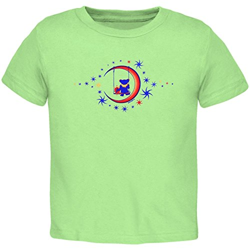 Old Glory Grateful Dead - Unisex-baby Moon Swing Toddler T-shirt 4t Light Green ()